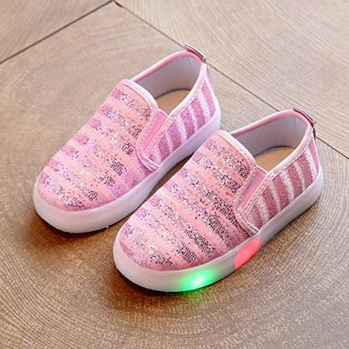 5 color Children shoes with light children glowing sneakers led kids LED Flashing glitter shoes