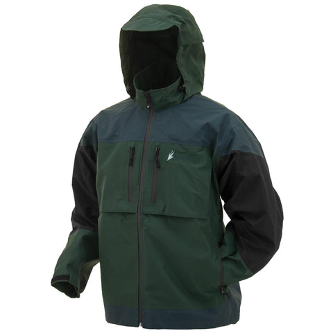 Anura Toadz Rain Jacket - Green-Slate-Black, Large - FlyRods.com. An online Fly Fishing Store with Style.