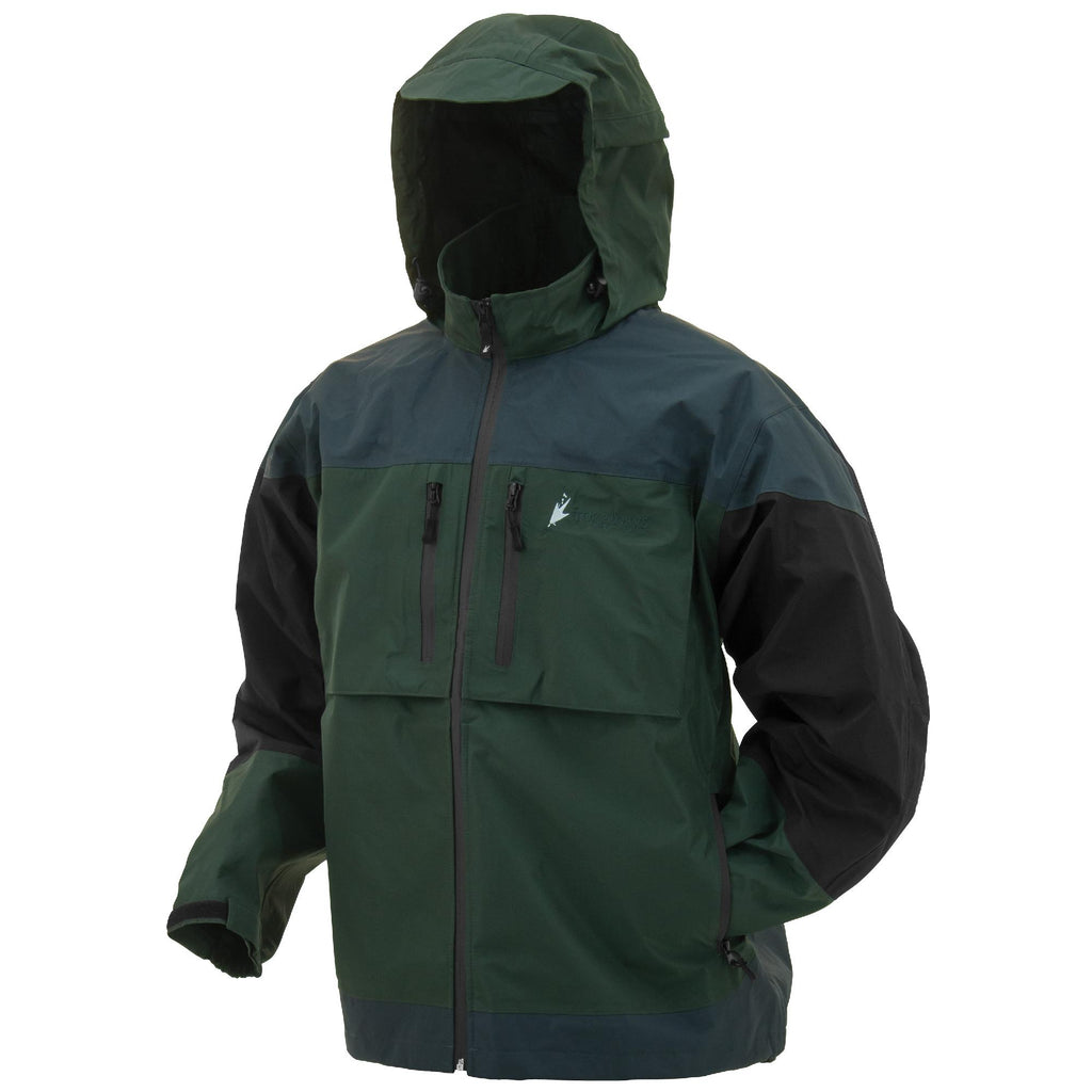 Anura Toadz Rain Jacket - Green-Slate-Black, X-Large - FlyRods.com. An online Fly Fishing Store with Style.