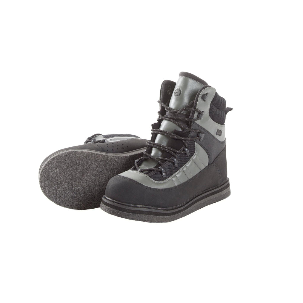 Wading Boot - Sweetwater Felt Sole, Size 9, Gray and Black - FlyRods.com. An online Fly Fishing Store with Style.