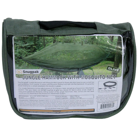 Hammock - Snugpak Jungle with Mosquito Net, Olive - FlyRods.com. An online Fly Fishing Store with Style.