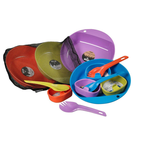 Wildo Eat and Drink Campware Set - 4 Person Set, Camping-Outdoor Colors - FlyRods.com. An online Fly Fishing Store with Style.