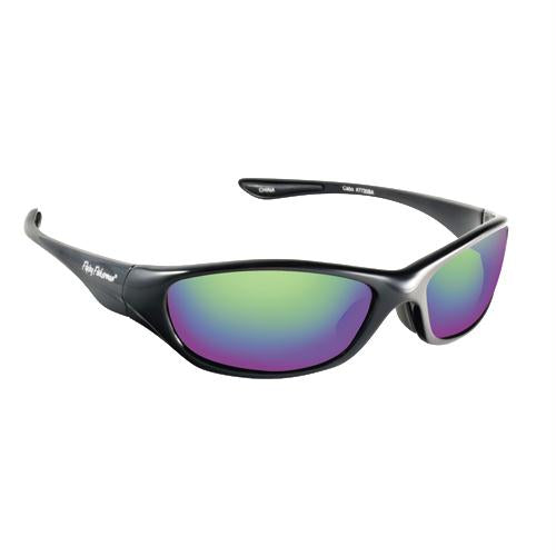 Fly Fish Cabo Sunglasses Black-Amber Green Mirror - FlyRods.com. An online Fly Fishing Store with Style.