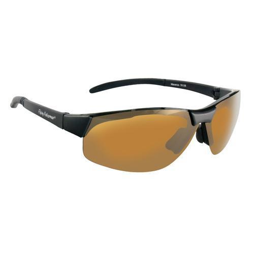 Apparel - Fly Fish Maverick Sunglasses Matte Black-Amber