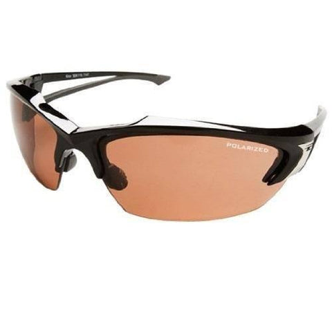 Edge Eyewear Khor Polarized Black Frame Copper Driving Lens