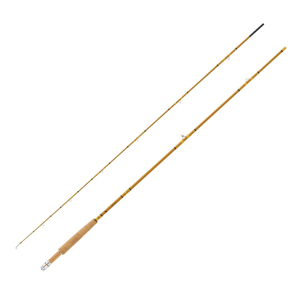"Fishing - Crafted Glass Fly Rod - 7'6"" Length, 2 Piece, Honey Gold Glass, Medium"