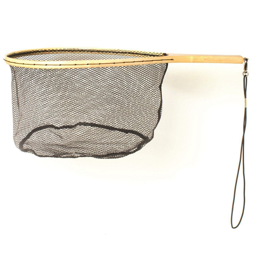 Fishing - Eagle Claw Wood Trout Net W-Rubberized Netting