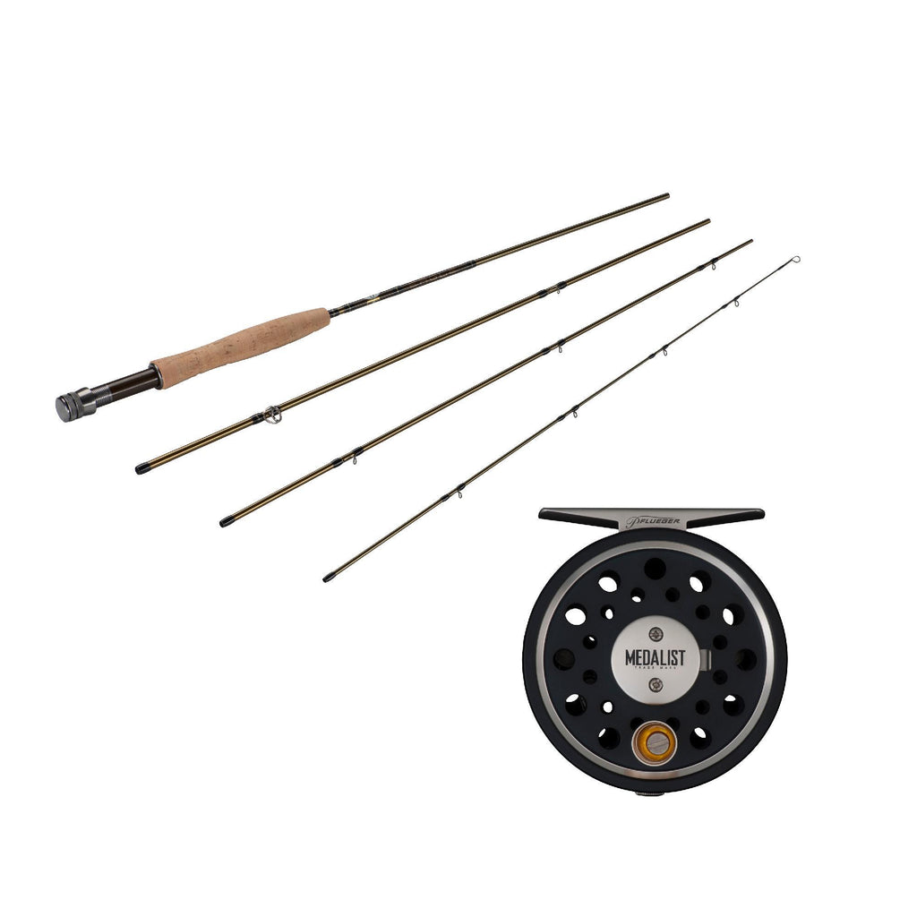 Fishing - Medalist Fly Kit - 3-4 Reel Size, 1.1:1 Gear Ratio, 8' Length, 4 Piece Rod, 4wt Line Rating
