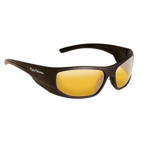 Fly Fish Cape Horn Sunglasses Mt Black-Yellow Amber