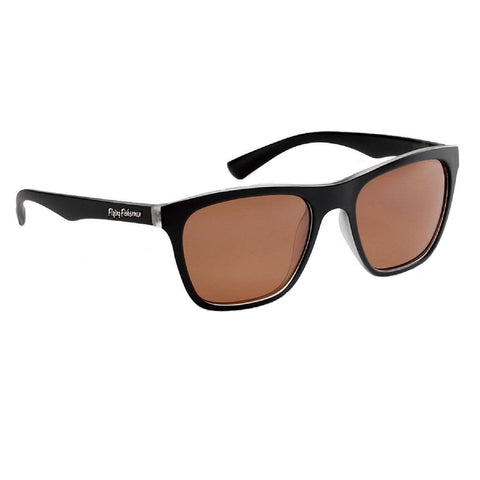 Flying Fisherman Fowey Crystal Matte Black Frame-Copper Lens