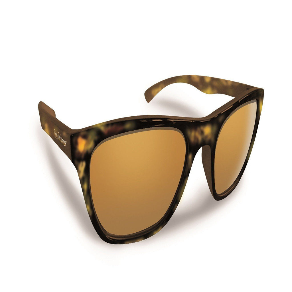 Flying Fisherman Fowey Tortoise Frame W-Amber Lens Sunglass