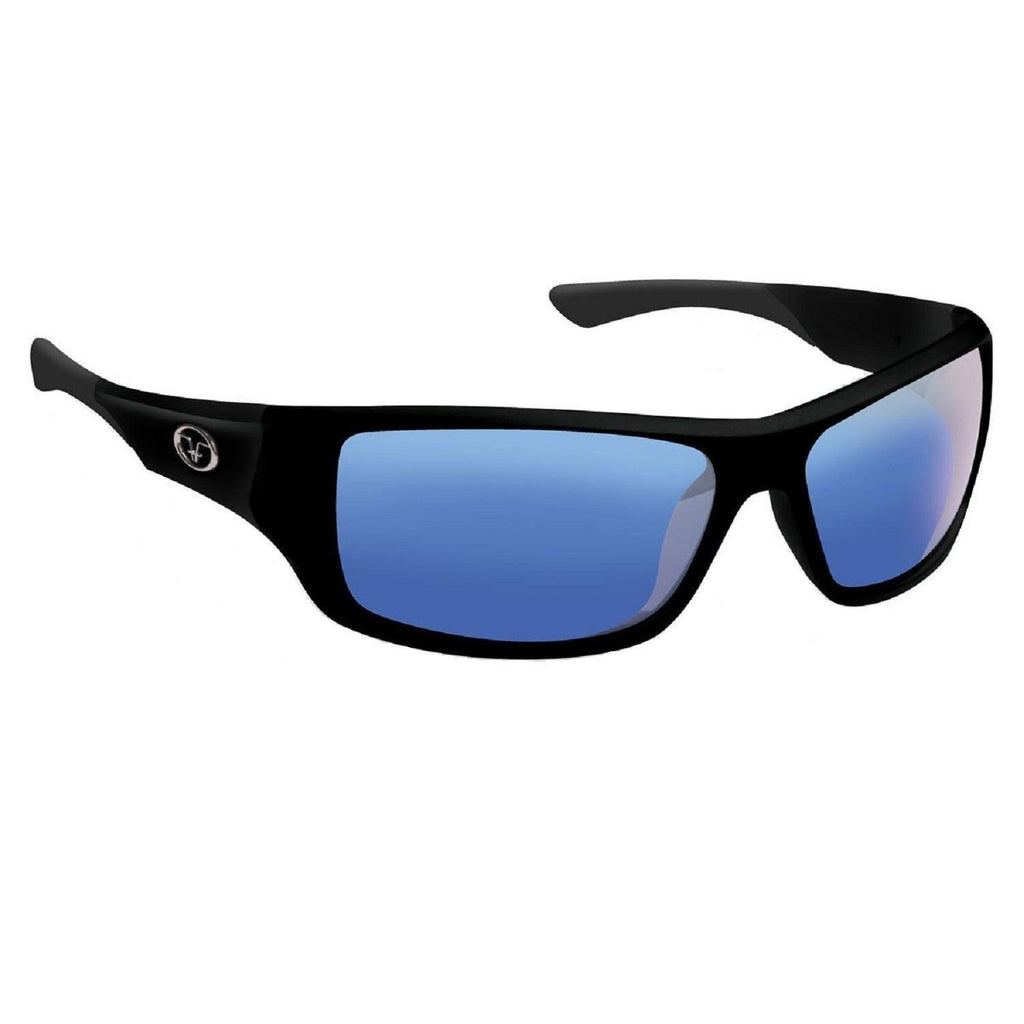 Flying Fisherman Triton Matte Blk Smoke Blue Mirror Sunglass