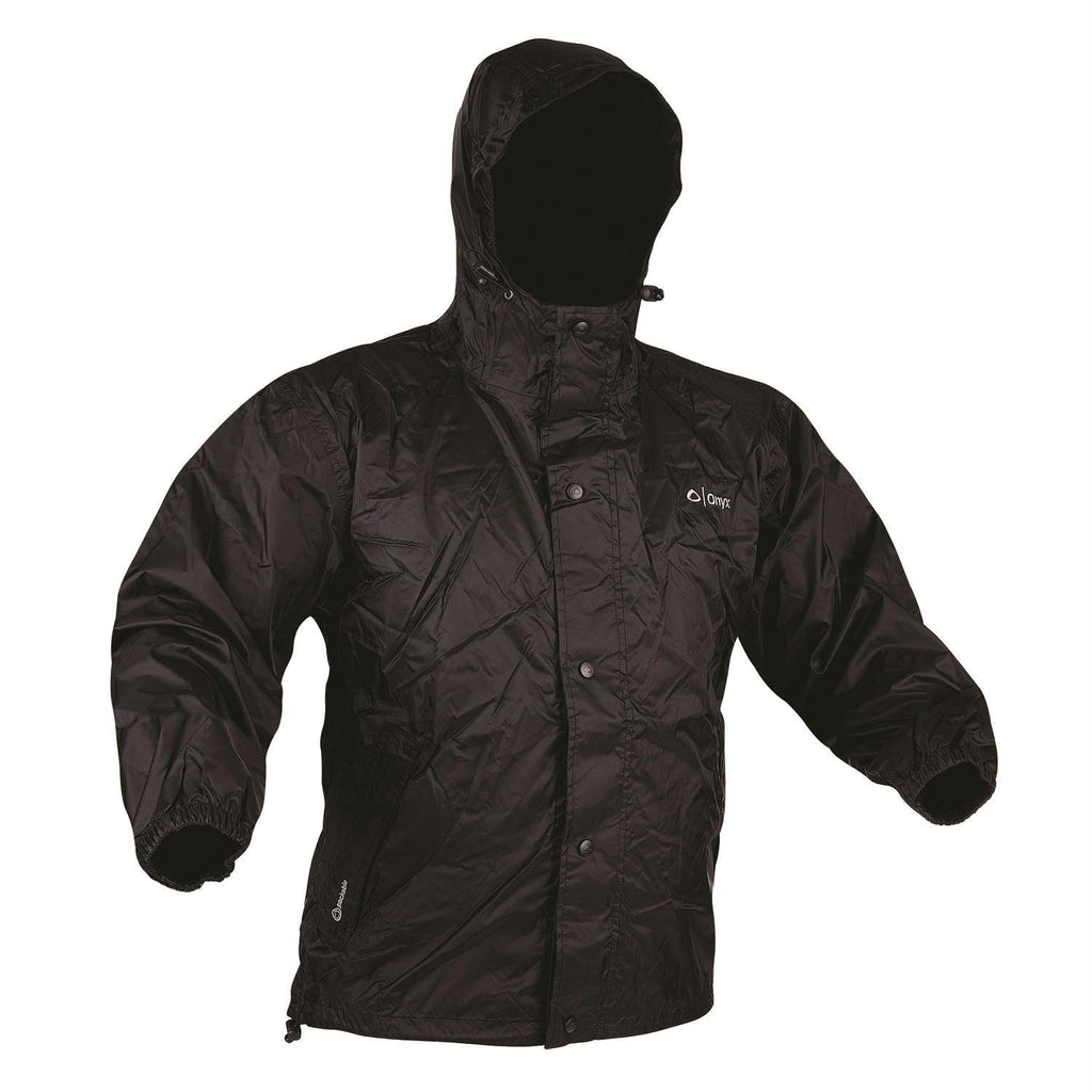 Marine/water Sports - Onyx Packable Nylon Rain Jacket Black-Xlarge