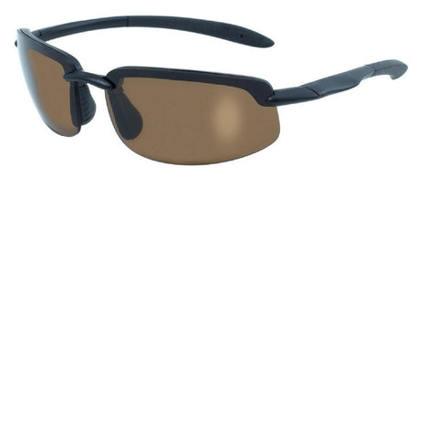Sunglasses - BlueWater Black Semi Frame Polarized Brown Lens