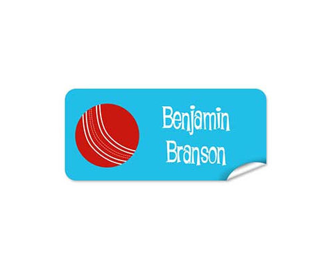 Cricket Ball 48pk Labels - Rectangle