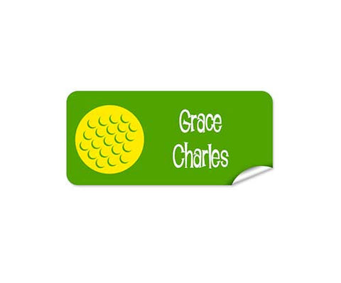 Golf Ball 48pk Labels - Rectangle