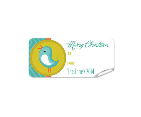 Blue Bird 27pk Labels Christmas