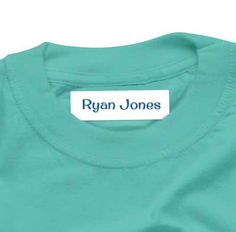 Iron On Labels 44pk - White Surfer Blue