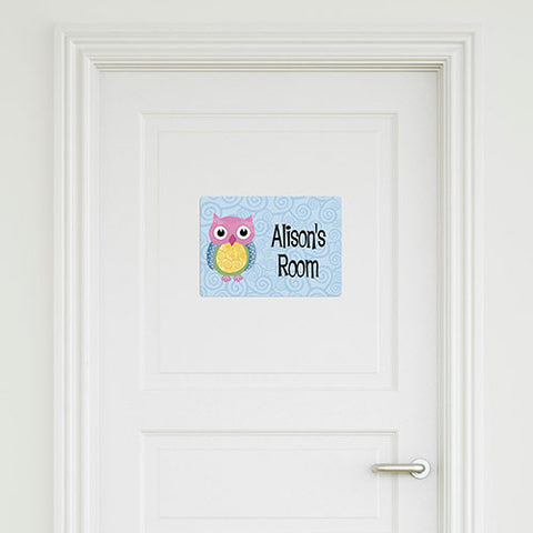 Owl Medium Door Sign