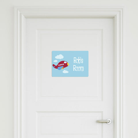 Plane Medium Door Sign