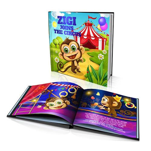 Large Hard Cover Story Book - Joins the Circus