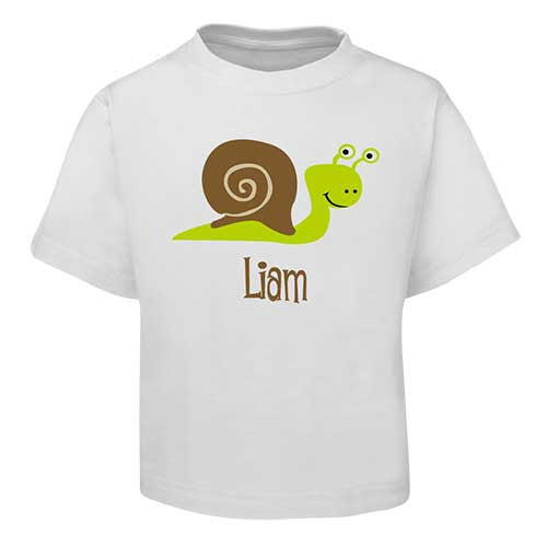 Green Snail Kids T-Shirt