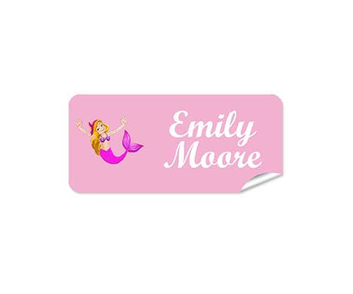 Mermaid 42pk Labels - Rectangle