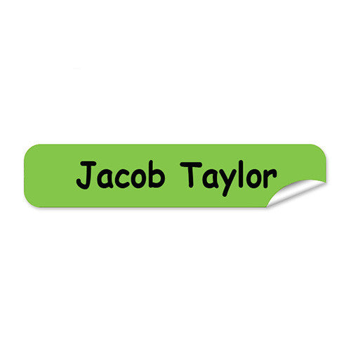 Mini Name Labels 72pk - Green