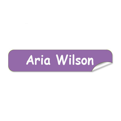 Mini Name Labels 72pk - Purple