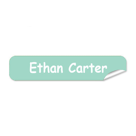 Mini Name Labels 72pk - Teal