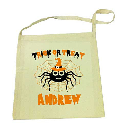 Spider Halloween Calico Tote Bag