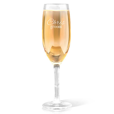 Groom Design Champagne Glass