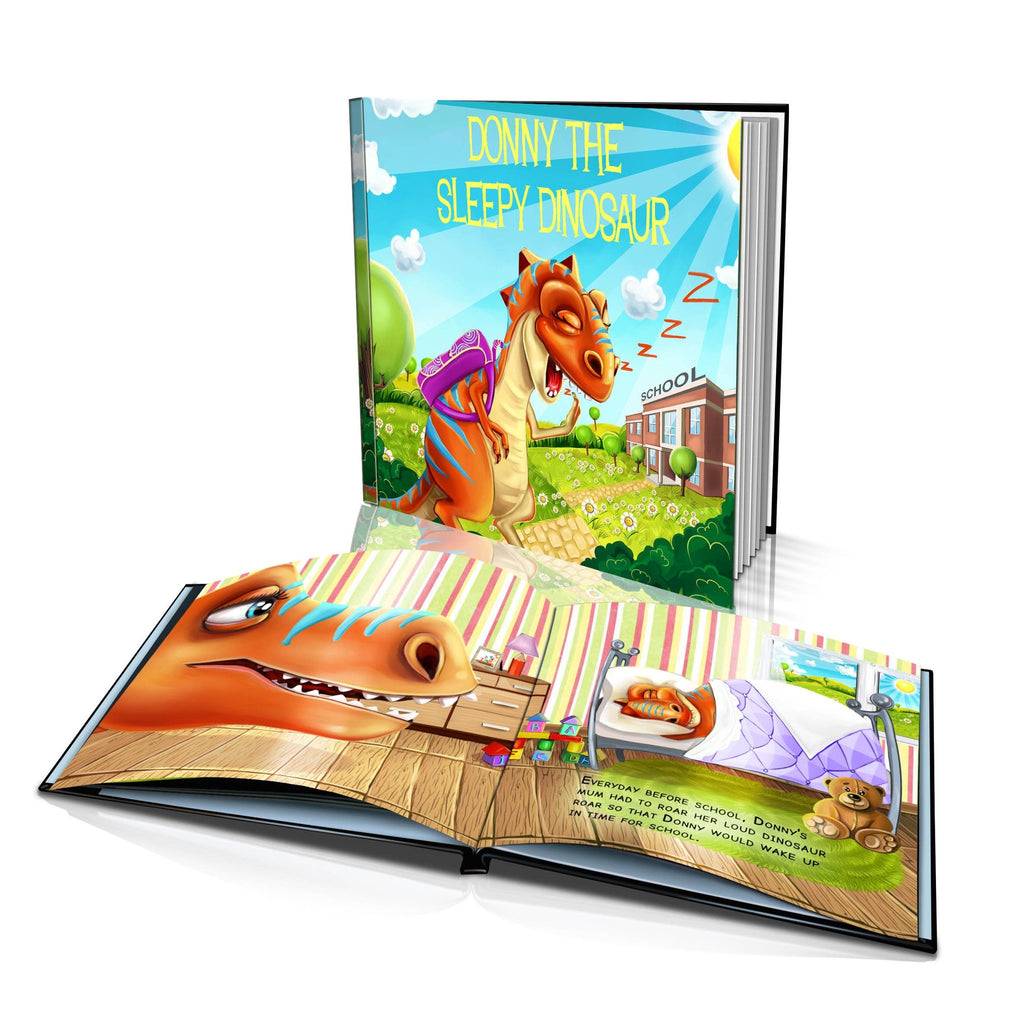 Large Hard Cover Story Book - The Sleeping Dinosaur