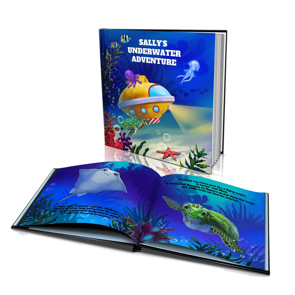 Large Hard Cover Story Book - Underwater Adventure