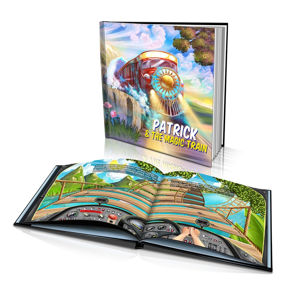 Large Hard Cover Story Book - The Magic Train