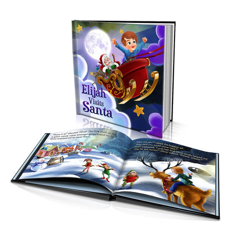 Hard Cover Story Book - Visiting Santa