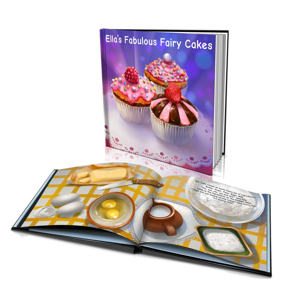 Large Hard Cover Story Book - Fabulous Fairy Cakes