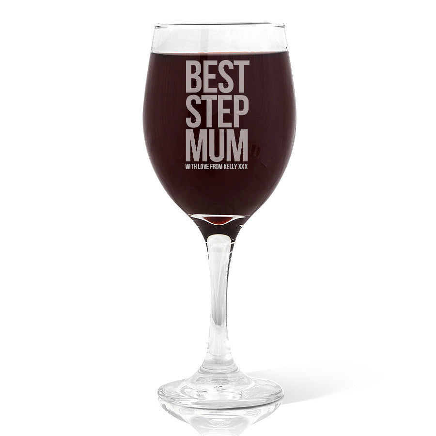 Best Step Mum Wine Glass (410ml)