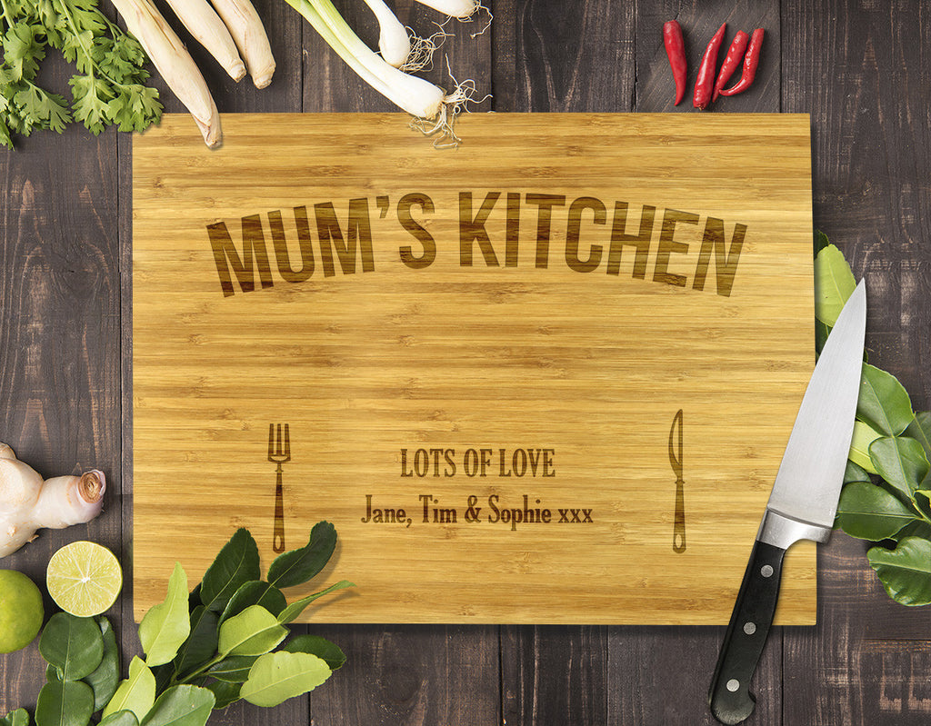 Mum's Kitchen Bamboo Cutting Board 12x16""