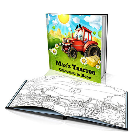 The Talking Tractor Hard Cover Colouring Book