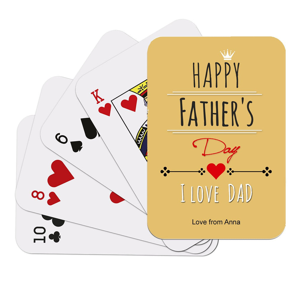Happy Father's Day Playing Cards