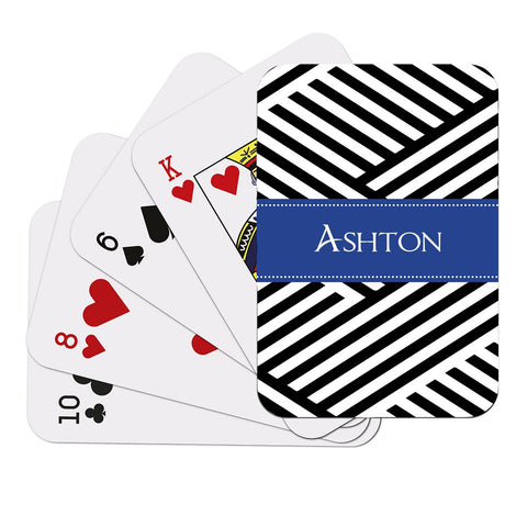 Black Pattern Playing Cards