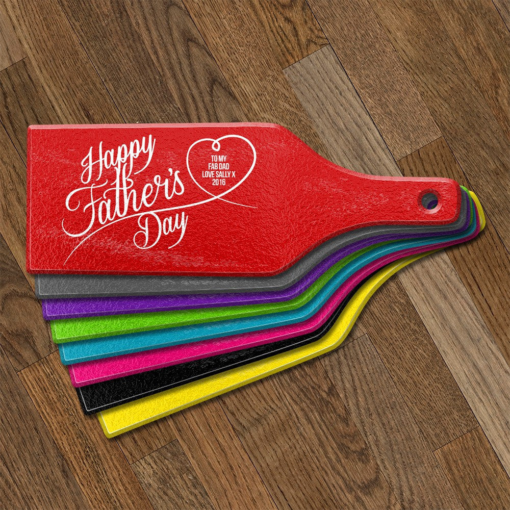 Happy Father's Day Glass Cheese Board