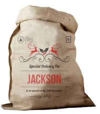 Special Delivery Hessian Santa Sack