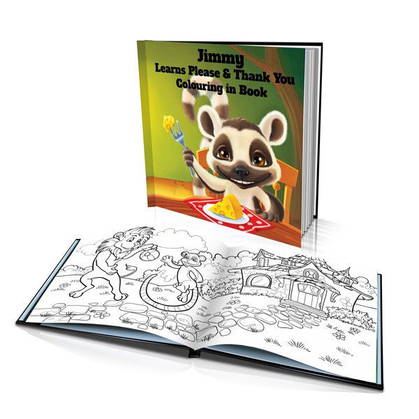 Learns Please and Thank You Hard Cover Colouring Book