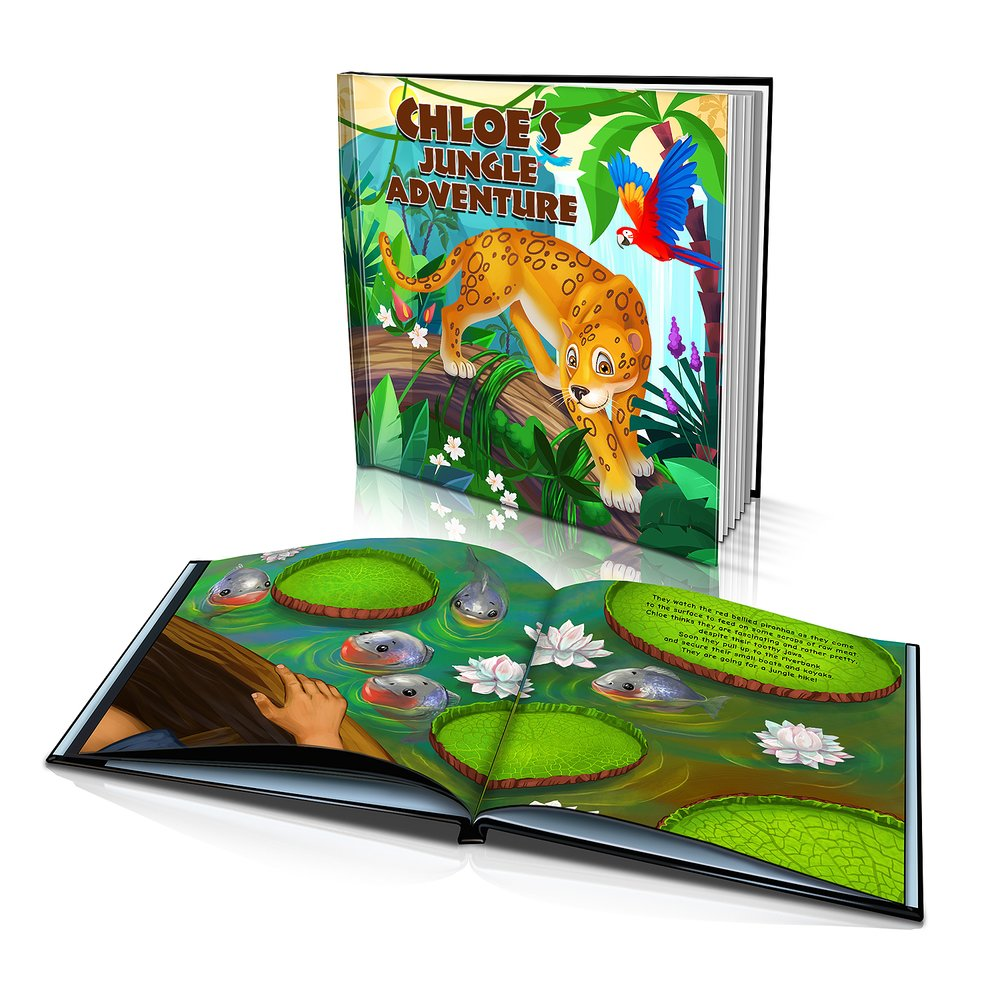 Large Hard Cover Story Book - Jungle Adventure