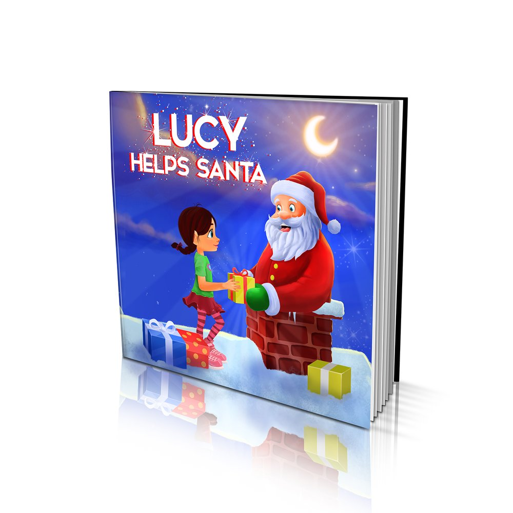 Large Soft Cover Story Book - Helping Santa