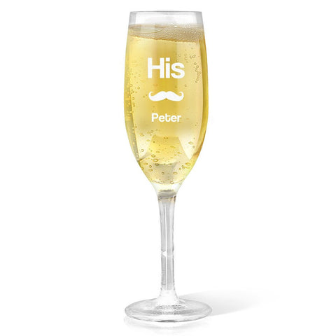 His Champagne Glass
