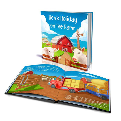 Holiday on the Farm Large Hard Cover Story Book