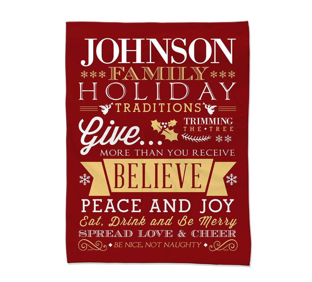 Holiday Rules Blanket - Large